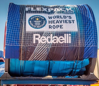 Teufelberger-Redaelli celebrates the fourth Guinness World Record of the Flexpack rope!