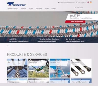 Neue teufelberger.com