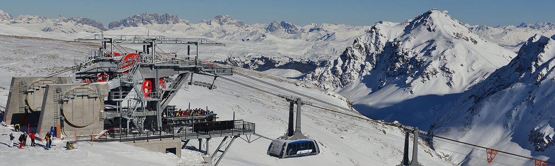 Arosa-Lenzerheide: Arosa-Lenzerheide in Switzerland, reversible aerial ropeway, STRESSLESS Data carrying rope, SOLITEC® hauling rope.