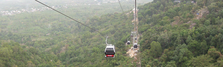 Chua Chan Pagoda: Chua Chan Pagoda in Vietnam, gondola ropeway, SOLITEC® hauling rope