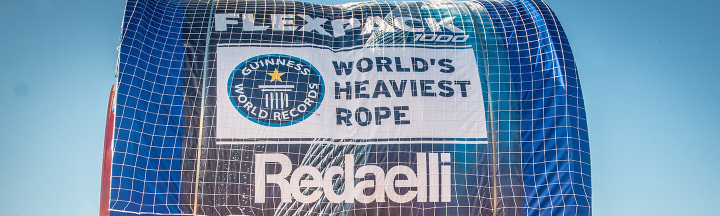 Fourth Guinness World Record for the Flexpack rope