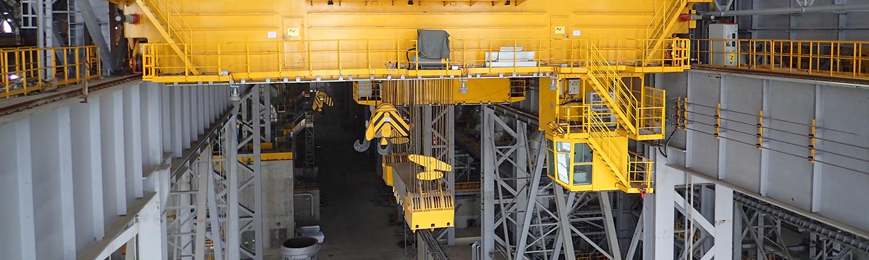 Evolution QS816 V auf einem Gießkran in einem Stahlwerk