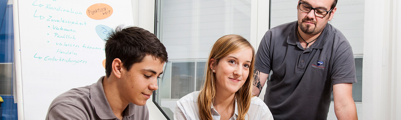 Lehrlinge  bei TEUELBERGER