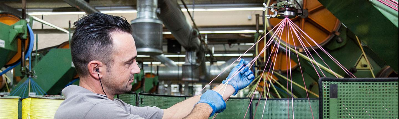 Faserseil-Produktion bei TEUFELBERGER