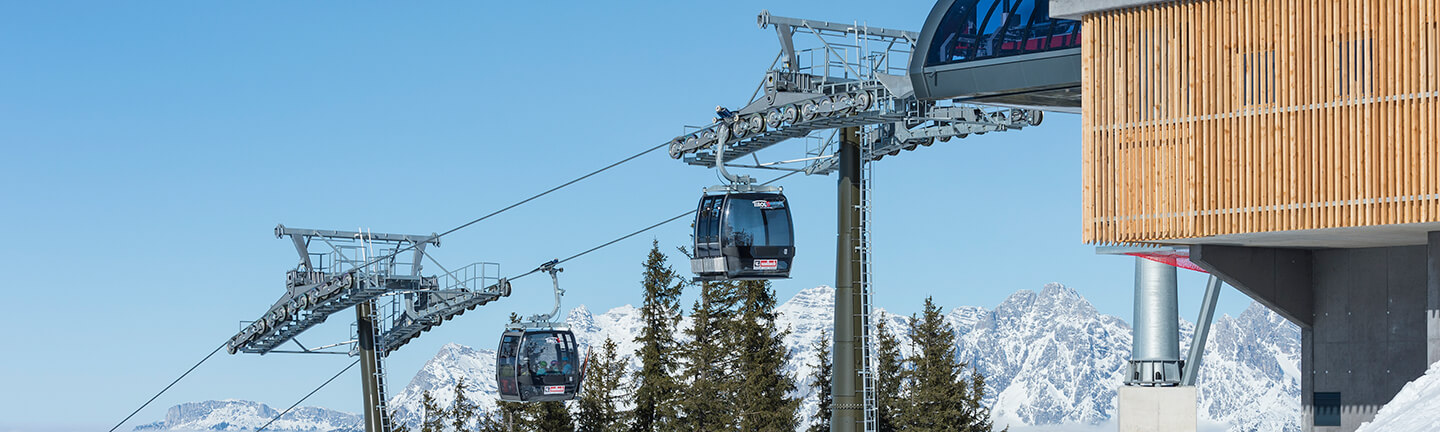 TirolS: TirolS in Fieberbrunn and Saalbach Hinterglemm Leogang in Austria, unidirectional monocable ropeway, SOLITEC® hauling rope