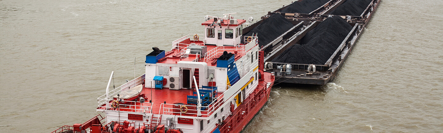 Tow Line and Barge