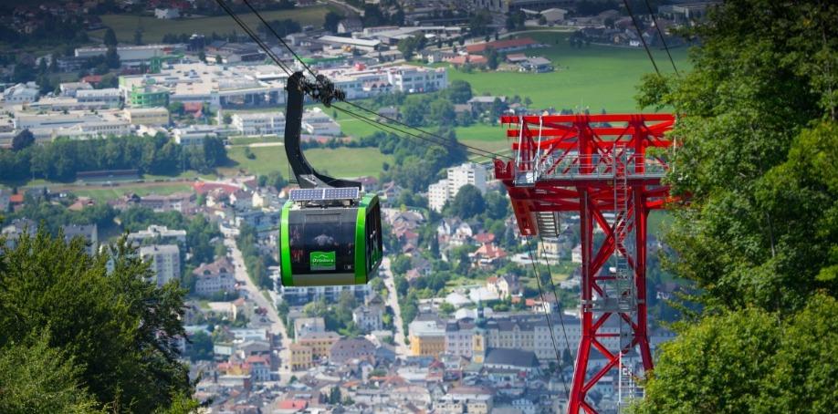 Grünbergbahn ropeway / Gmunden, Austria (reversible aerial ropeway)