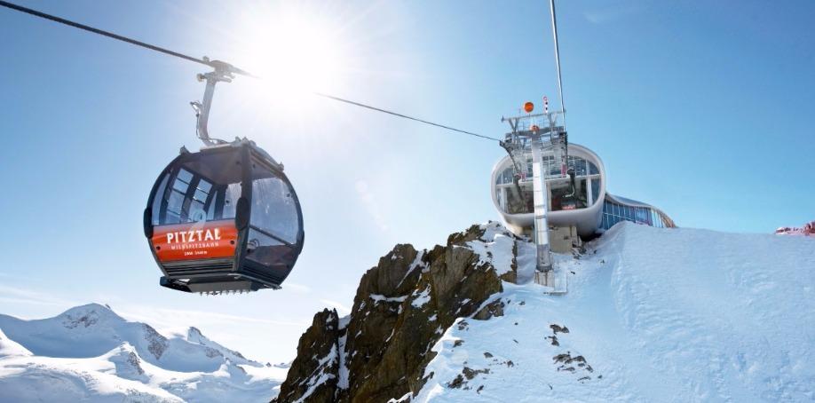 Wildspitzbahn ropeway / Pitztal Glacier, Austria (unidirectional aerial ropeway)