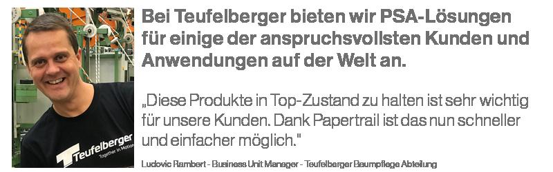 Teufelberger - Papertrail Ludovic Rambert
